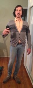 Grey Cardigan b