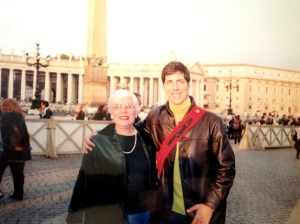 Mom and I in Rome
