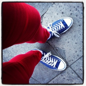 Red Pants, Blue Shoes