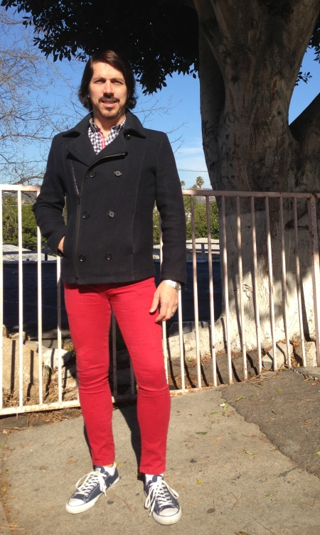 Red Pants, Blue Sky