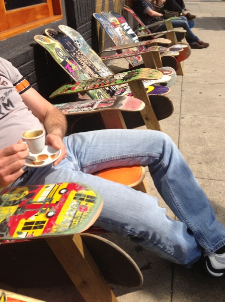 skateboard chairs