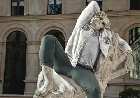 classical sculpture as hipster