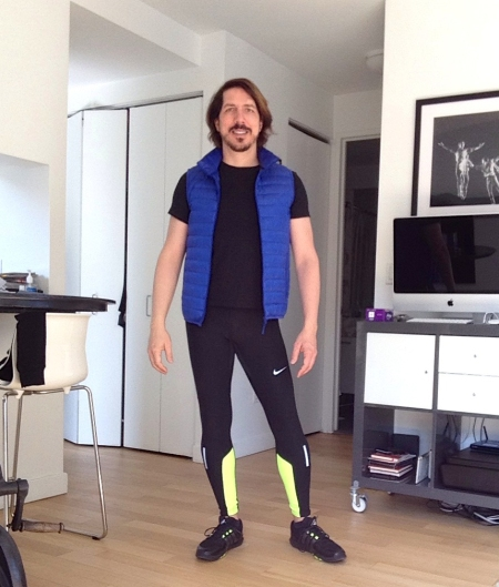 Me in running tights